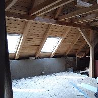 Rekonstrukce podkroví - Červený Kostelec